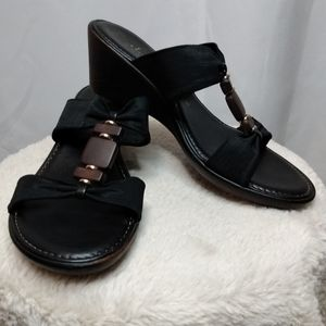 Italian Shoemakers black wedge sandal